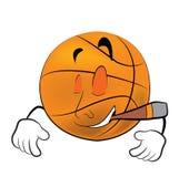 Smoking Basketball ball cartoon Stock Photo
