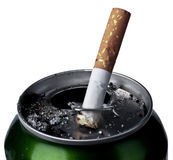 Smoking and Beer Royalty Free Stock Image