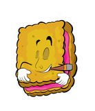 Smoking Biscuit cartoon Stock Photography
