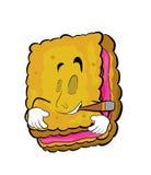 Smoking Biscuit cartoon Stock Photography
