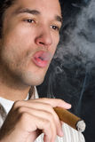 Smoking Black Man Stock Photos