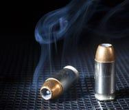 Smoking bullets Royalty Free Stock Photography