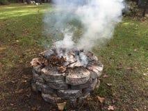 Smoking Burn Fire Pit royalty free stock photo