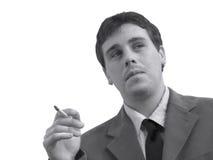 Smoking Business Man Royalty Free Stock Photo