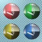 Smoking button,icon, sign, 3D illustration Stock Image