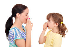 Smoking can cause diseases in children Royalty Free Stock Images