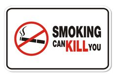 Smoking can kill you - rectangle sign Stock Image