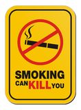 Smoking can kill you sign Stock Illustration