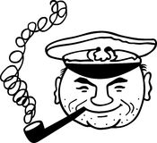 Smoking captain Royalty Free Stock Image