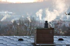 Smoking chimney Royalty Free Stock Photo