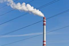 Smoking chimney 1 Royalty Free Stock Image