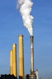 Smoking chimney of coal power plant Royalty Free Stock Images