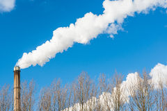 Smoking chimney Royalty Free Stock Photos