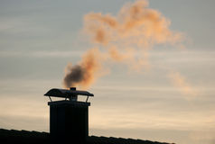Smoking chimney 2 Royalty Free Stock Photography