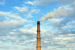 Smoking chimney stack Stock Image