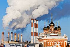 Smoking chimneys Royalty Free Stock Images