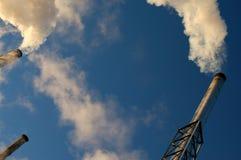 Smoking chimneys Royalty Free Stock Image