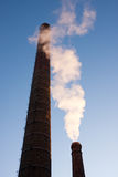 Smoking chimneys Royalty Free Stock Photography