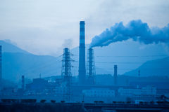 Petrochemical factories Royalty Free Stock Image