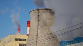 Smoking Chimneys Factory stock video