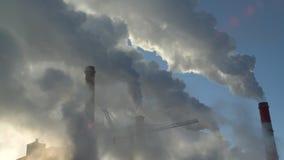 Smoking chimneys stock footage