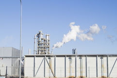 Smoking chimneys of an industrial enterprise Royalty Free Stock Photography
