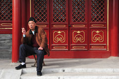 Smoking in China Royalty Free Stock Photography