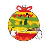 Smoking christmas tree toy cartoon Royalty Free Stock Images
