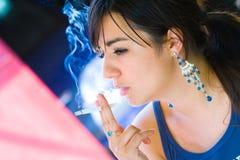 Smoking cigar Royalty Free Stock Image