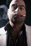 Smoking a cigar Royalty Free Stock Image