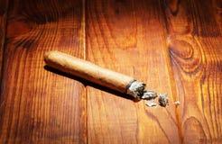 Smoking cigar Stock Photography