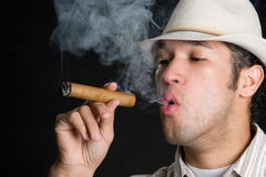 Smoking Cigar Man Royalty Free Stock Image