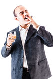 Smoking a cigar Stock Photo