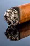 Smoking cigar Stock Images