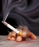 Smoking a cigarette Stock Image