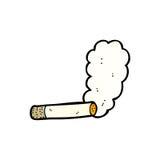 smoking cigarette cartoon Royalty Free Stock Photos