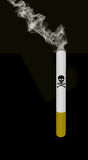 Smoking cigarette with death sign Stock Photography