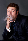 Smoking a cigarette Stock Photo