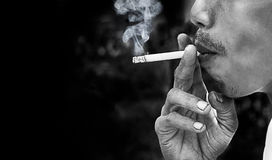 Smoking cigarette Stock Image