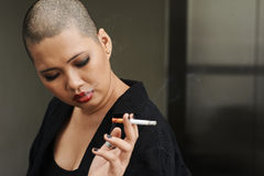 Smoking cigarette Stock Photography