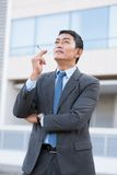 Smoking cigarette Stock Images