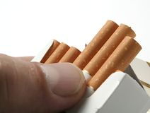 Smoking of cigarettes Stock Photo