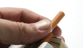 Smoking of cigarettes Stock Photography