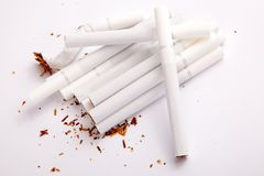 Smoking cigarettes Royalty Free Stock Photo