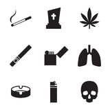 Smoking and cigarettes icons Stock Images