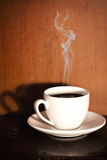 Smoking Coffee Stock Photography