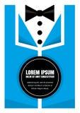 Smoking con la corbata de lazo, diseño del fondo del concepto de la idea para el cartel Foto de archivo libre de regalías