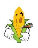 Smoking Corn cartoon Royalty Free Stock Photos