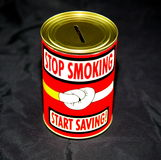 Smoking costs. The real winner for quitting smoking is you stock photography