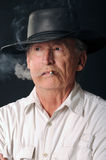 Smoking Cowboy Royalty Free Stock Photography